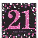 Sprankelen-Roze-21e-Verjaardag-Lunch-Servetten-16st