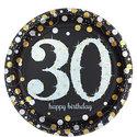 Sprankelende-30e-Verjaardag-Papieren-Borden-8st