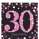 Sprankelende-Roze-30e-Verjaardag-Lunch-Servetten-16st