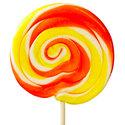 Oranje-en-Geel-Spiraal-Lollys-met-Sinaasappel-Smaak-30st